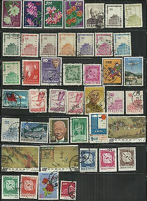 Taiwan 1964 - 70 43 MH/used stamps as scan
