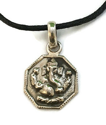 Ganesh Sterling Silver Pendant Necklace