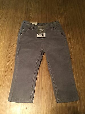 Next Baby Girls Brand New With Tags Cute Cord Jean Trousers 9-12 Months