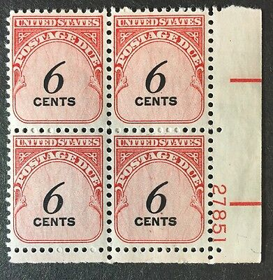 US Postage Due Stamps - J94 MNH Plate Block
