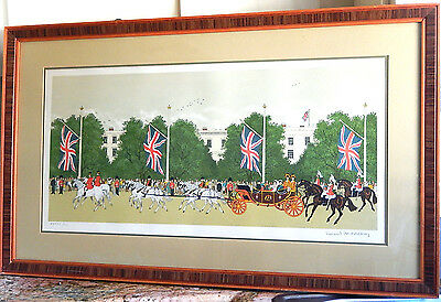 Vincent Haddelsey Lithograph Print ' Royal Wedding '  Signed  Limited Edition