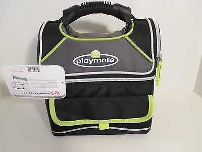 NWT IGLOO PLAYMATE GRIPPER 9 6L 2 Sections Leak Resistant Lunch Box Cooler~Black