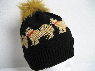 Chow Chow Knitted Pompom Hat Adult Size