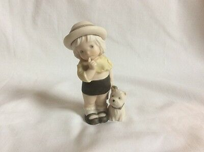 KIM ANDERSON'S A FAITHFUL FRIEND IS A TREASURE LITTLE GIRL STANDING w/ PUPPY MIB