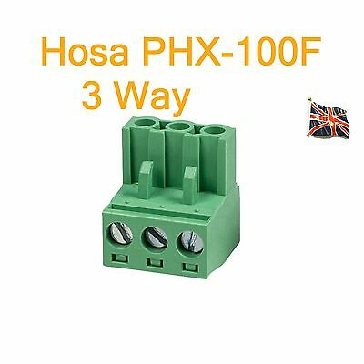 Hosa PHX-100F BULK 3 Pole Female Phoenix Euroblock Replacement Connector