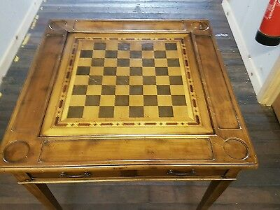 wooden  revolving card and chess table