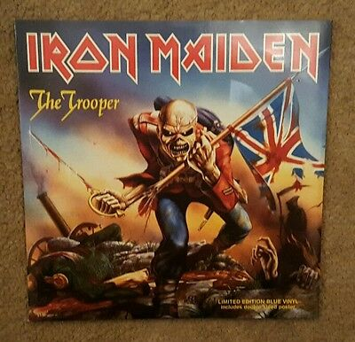"Iron Maiden 'the Trooper' - Live  7"" Blue Vinyl Single"