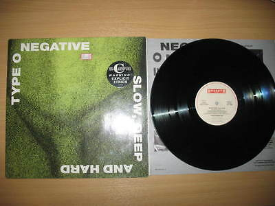 Type O Negative Lp Slow,deep And Hard First Press Roadrunner Records W/t Sticker