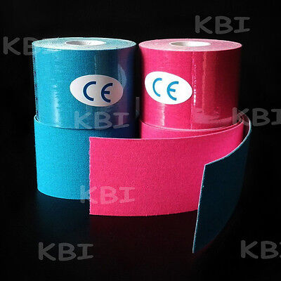 4 x 5cm*5m Rolls Kinesiology tape Elastic Sports Injury Muscle Physio Support