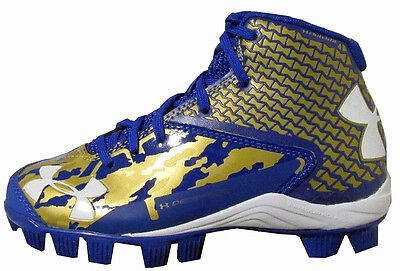 Under Armour Deception Baseball Cleats Youth Size 5 Royal/Gold - NEW