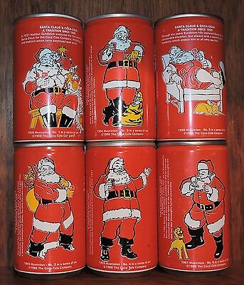 RARE 1988 Christmas Coke Cans - South Africa