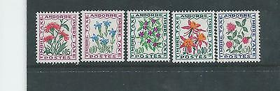 Andorra - 1971 Postage Dues - Un-mounted Mint Set of Five