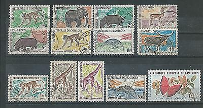 Cameroon - 1962 Animals Definitives - 13 different values - Used