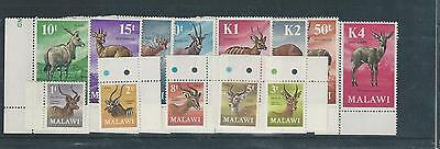 Malawi - 1971 Antelope Definitives New Decimal Currency set - Un-mounted Mint