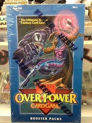 1995 Fleer Marvel Overpower Booster 36 card pack factory sealed box Scarce !