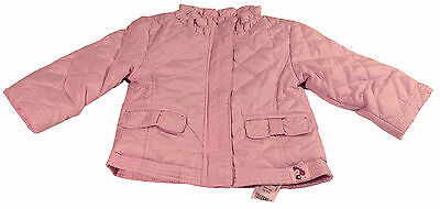 Baby Girls Baby Pink Quilted Jacket Fleece Lined Coat Ages 0-3M 3-6M 6-9M 9-12M