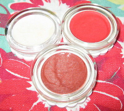 Vintage Dura-Gloss Lip Gloss Pots ~ Natural, Berry Pink & Bronze Berry ~ Unused
