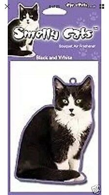 Cat Air Freshener - Black And White Cat Car Perfect Gift