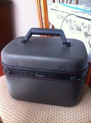 constellation grey Vanity Case/Make Up/Travel Bag fab gift idea in fab condition