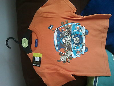 VW Doggies in a Camper Van T-SHIRT.  Child, size age 18-24mths  BNWT