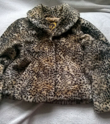 Girls Fur Coat age 8/9 (leopard print)