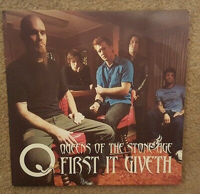 "Queens Of The Stone Age 'first It Giveth' 7"" Red Vinyl Single"
