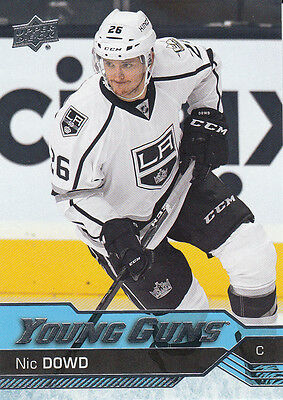2016/17 Upper Deck Series 1 Young Guns Sp Nic Dowd 247 Kings