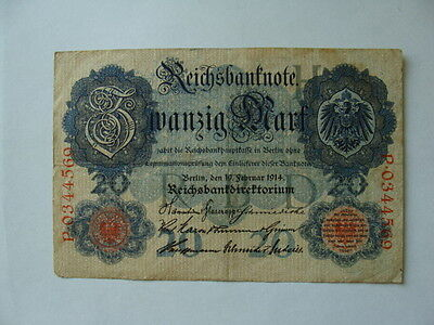 1914 Germany 20 Mark Currency