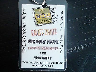 Enuff Znuff Concert Stage Pass Tag GUC