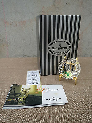 Waterford Crystal Jewels, Boxed, Minaiature Plate, Blossoms of Spring