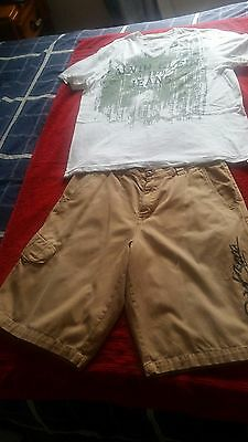 Size 34 shorts and XL Calvin Klien shirt Great Bargin at this price.