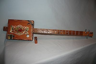 3 String BB Guitars w/My Father's Cigar Box - Acoustic/Electric w/free slide