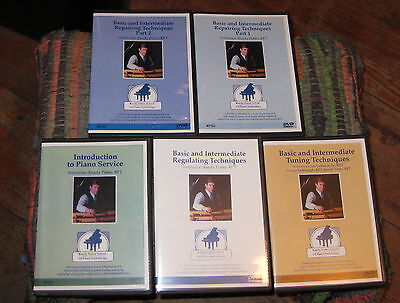 PIANO TUNING & PIANO REPAIR, 5 DVDs, 10 HOURS, COMPLETE SET! + PIANO REGULATING