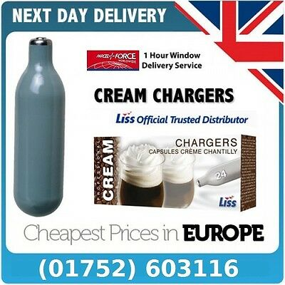 120 x 8g N2O Nitrous Oxide Whipped Cream Chargers Canisters - Free Delivery