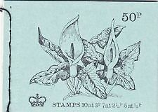 GB MAY 1972 DT6 50p BRITISH FLOWERS SERIES  STITCHED BOOKLET