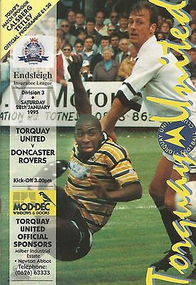 Torquay United v Doncaster Rovers, 28 January 1995, Division 3