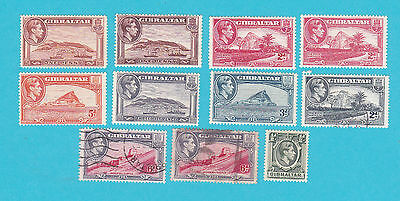 GIBRALTAR MH & USED OLD STAMPS.lot#348