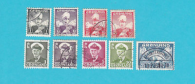 GREENLAND USED Stamps COLLECTION  . lot#285