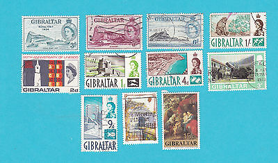 GIBRALTAR MH & USED OLD STAMPS.lot#349