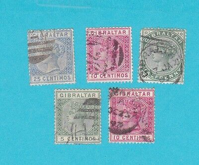 GIBRALTAR USED OLD STAMPS.lot#346