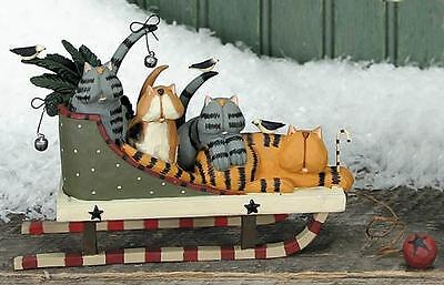 "CATS on a Sleigh - ""Feline Flyers"" - Williraye - 2824 - New in Box"