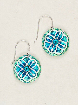 Holly Yashi Abbey Turquoise Green crystal Earrings artisan handmade   HY5