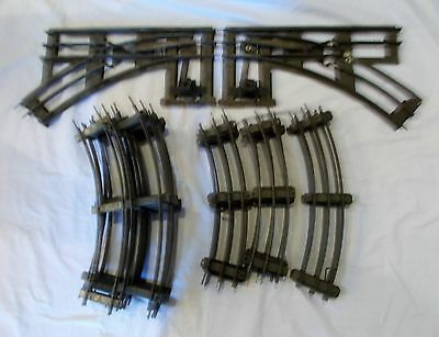 Vintage Lot of 17 Pieces of Standard Gauge Track & 2 Manual Switches