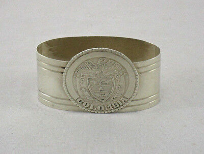 Sterling Silver Napkin Ring Columbia Coat of Arms Medallion Coin
