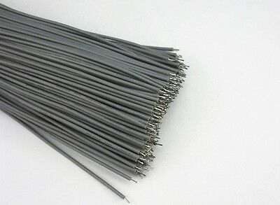 50PCS Dark Grey 23cm Double Headed Tinned Cable Fly line Thin wire 7 Cores