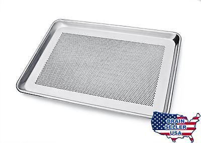 New Star Foodservice 36718 Commercial 18-Gauge Aluminum Sheet Pan, Perforated, 1