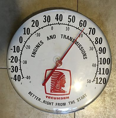 Tecumseh Thermometer Nos Sign