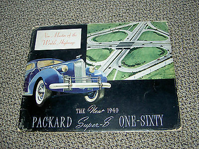 1940 Packard Super 8 160 Color Brochure Covers Everythig 16 Pages Great Cond.