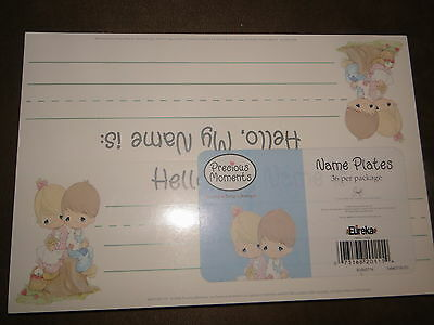 Precious Moments Love One Another Package Of 36 Name Plates-NIP