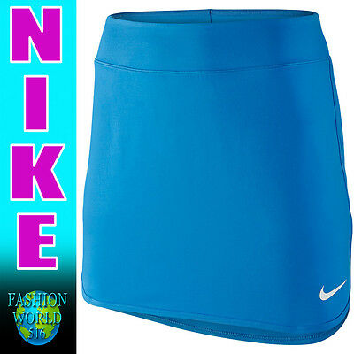 Nike Women's Size Large Tall Pure 14 Inch Summer 2016 Tennis Skort Blue 819350